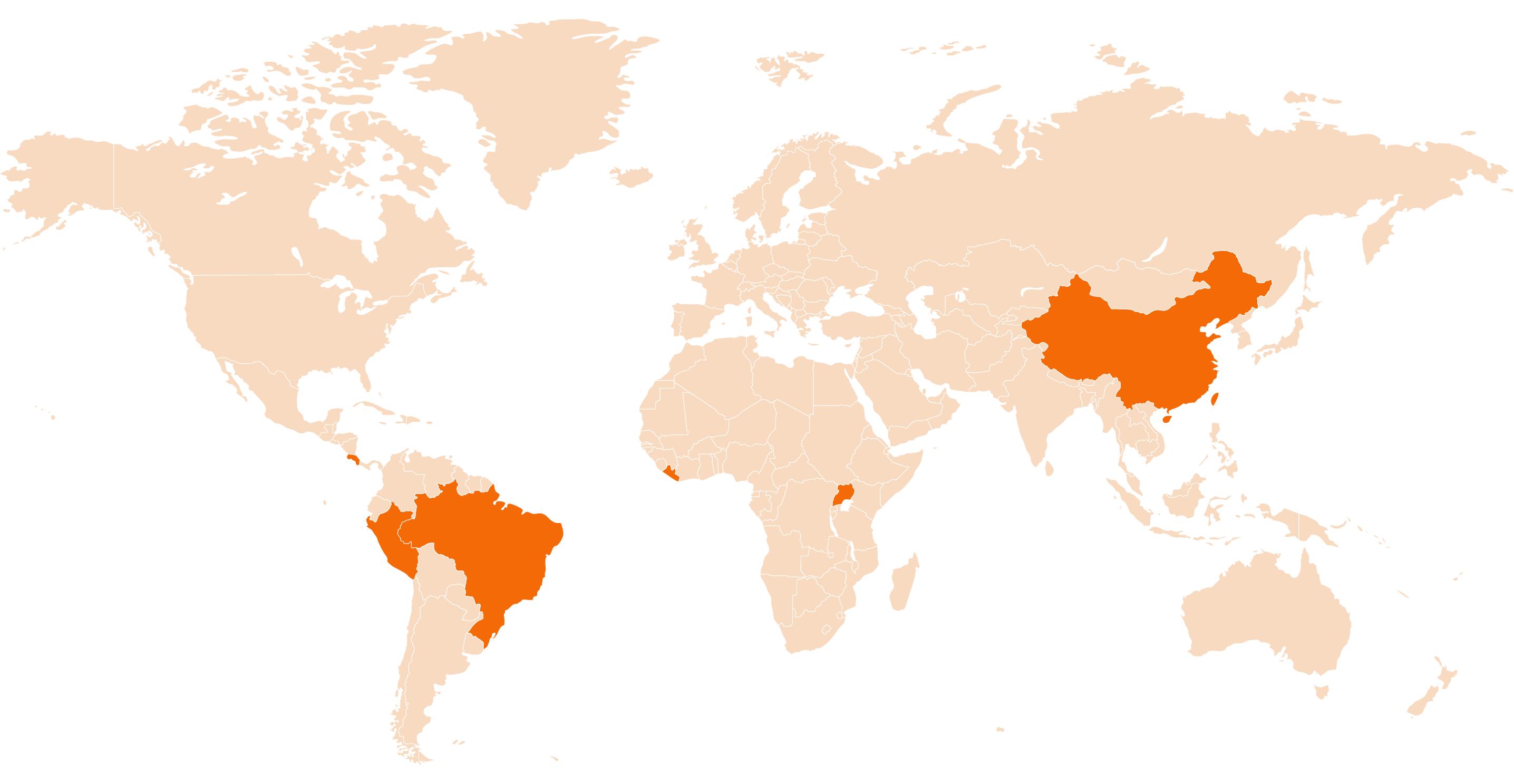 Metaketa Round 3 country locations